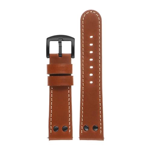 DASSARI Leather Pilot Watch Band Strap for Fossil Sport Smartwatch - 18mm - Tan