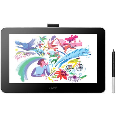 Ensemble avec tablette One Creative Pen Display de Wacom et Corel Painter 2021 - Blanc