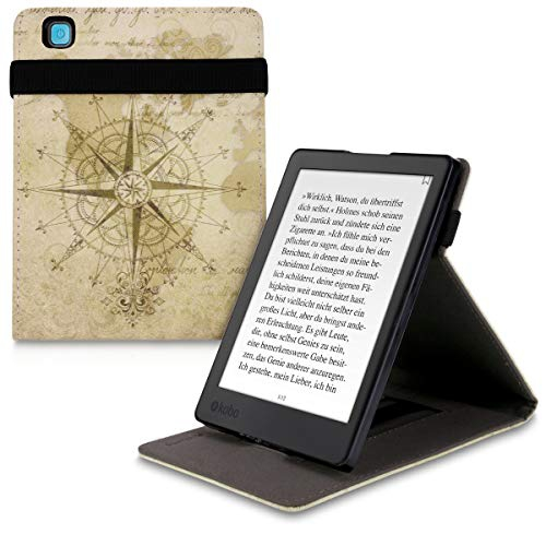 Dark Brown//Beige kwmobile Origami Case for Kobo Aura ONE Ultra Slim Fit Premium PU Leather Cover with Stand