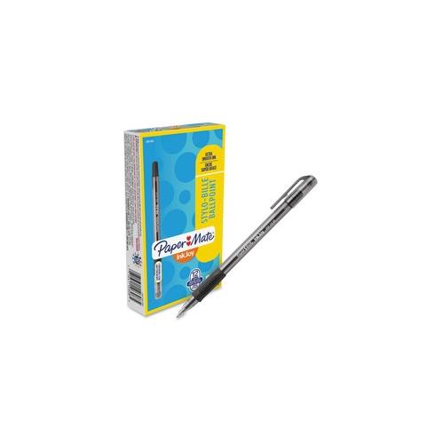 Paper Mate InkJoy 300 Ballpoint Stick Pen Black Medium Dozen 1951342