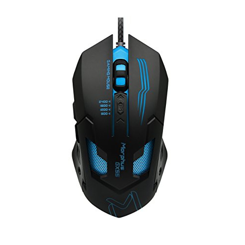 Wired USB Gaming Mouse 4 Adjustable DPI Levels Breathing LED Light 6-Button