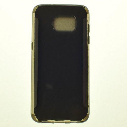 Étui souple pour surface brillante Samsung S7 Edge, fumée