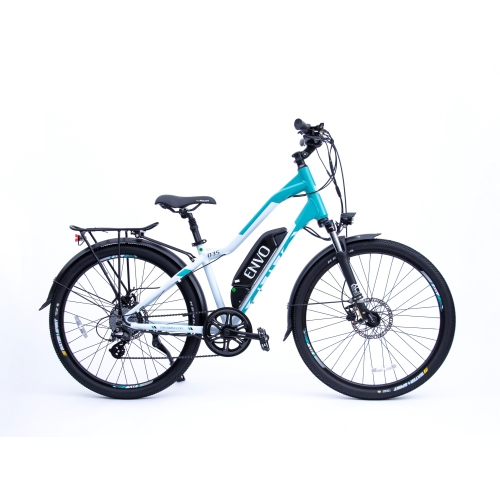 """ENVO D35 27.5"""" Electric Bike Bicycle 500W - 16 inch Ice Teal"""