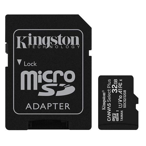 axGear Kingston Carte mémoire Micro SD 32 Go SDHC Classe 10 UHS-I TF 32 Go avec adaptateur SD