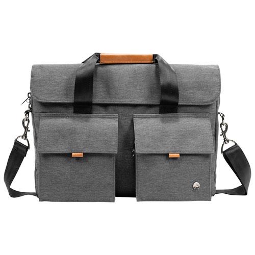 "PKG Richmond 16"" Laptop Designer Bag - Dark Grey/Tan"