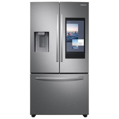 Réfrigérateur à deux portes 26,5 pi³ 36 po Family Hub de Samsung - Acier inoxydable