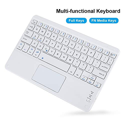 Wendry Bluetooth Touchpad Keyboard Portable Mini Ultra-Slim Wireless Bluetooth Keyboard with Trackpad for Android//iOS//Windows Systems