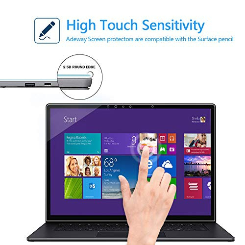 High Sensitivity Screen Protector 9H Hardness HD Clear Adeway Screen Protector for Microsoft Surface Laptop 3 15 inch