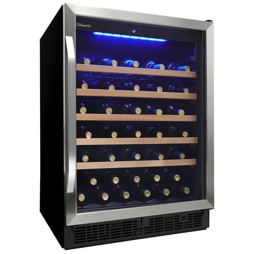 Refroidisseur à vin encastrable de 50 bouteilles 5,7 pi³ Silhouette - Inox