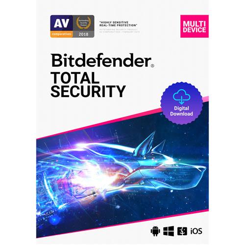 Bitdefender Total Security Bonus Edition, 5 utilisateurs, 3 ans, téléch. num.