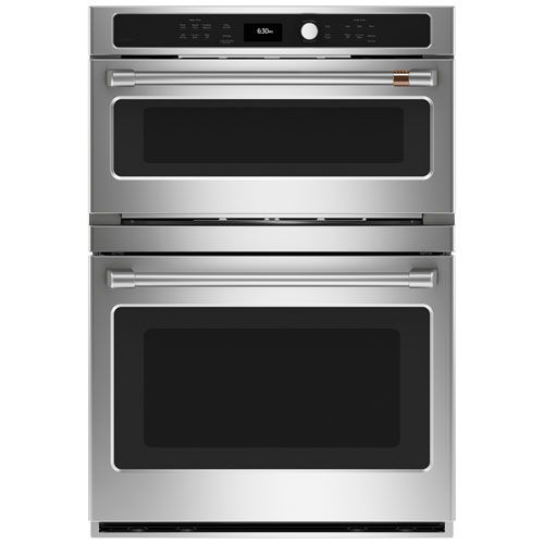 """Café 30"""" 6.7 Cu. Ft. True Convection Electric Combination Wall Oven - Stainless Steel"""