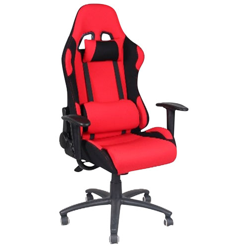 My Style Collection Jack Ergonomic Faux Leather Gaming Chair - Red/Black