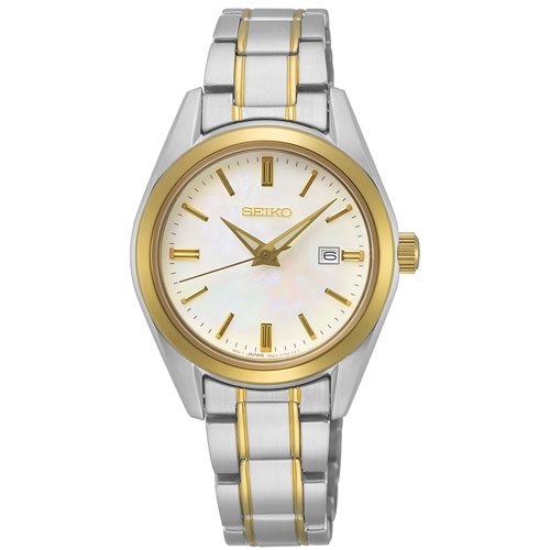 Seiko 29.8mm Women's Dress Watch - Gold/Silver/Mother of Pearl