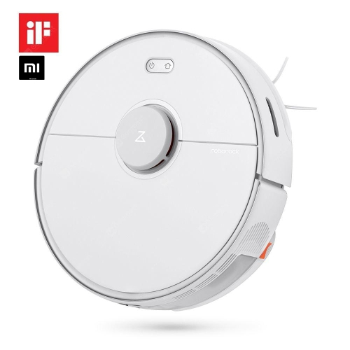 Roborock S5 MAX Robotic Vacuum and Mop, Selective Room Cleaning, Super Powerful Suction - White