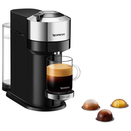 Nespresso Vertuo Next Deluxe Coffee & Espresso Machine by De'Longhi - Pure Chrome