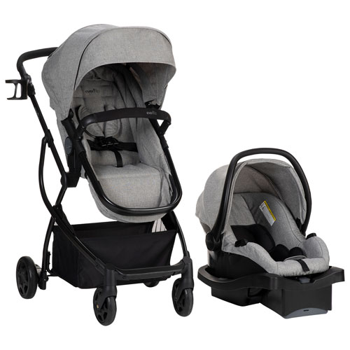 Evenflo Sibby Travel System with LiteMax Infant Car Seat Black ...
