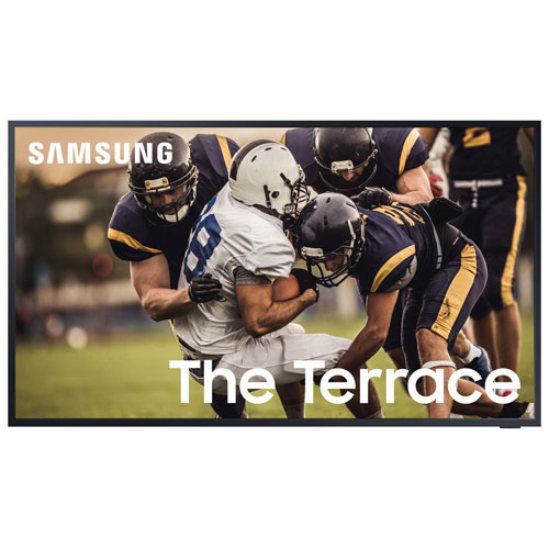 "Samsung The Terrace 75"" 4K UHD HDR QLED Tizen Smart Outdoor TV - Titan Black"