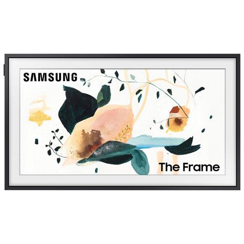 Télé. intelligent Tizen HDR QLED FHD 32 po Le Cadre de Samsung - Gris neutre