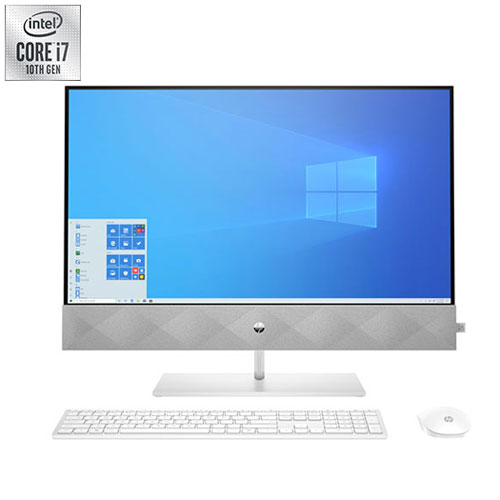 """HP Pavilion 27"""" All-in-One Desktop - White - English"""