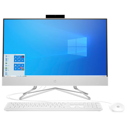 HP All-in-One Desktop PC - Snow White (Intel Core i5-1035G1/512GB SSD/12GB RAM/Windows 10) 24-DF0129