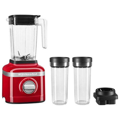 KitchenAid K150 1.42L 650-Watt Blender with 2 16oz Personal Blending Jars - Passion Red