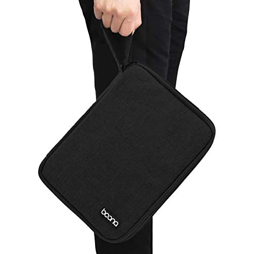 Large Double-Layer, Black Earphone Wire,/SD Card Power Bank iPhone and Ipad air BOONA Electronic Organizer Hard Drive Travel Gadget Bag for Various USB Cable