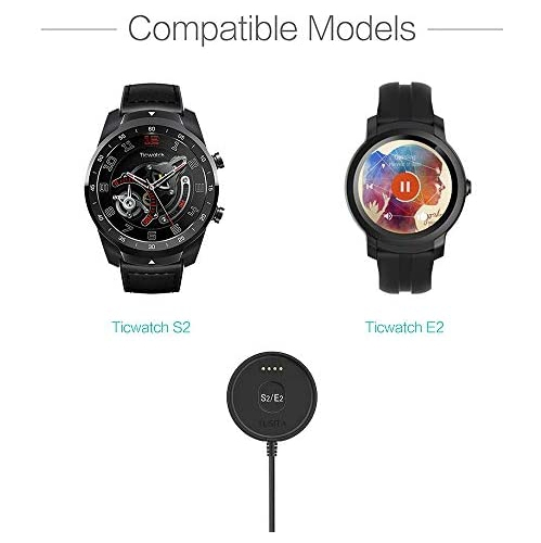 USB Charging Cable 100cm Smartwatch Accessories TUSITA Charger for Ticwatch E2 S2