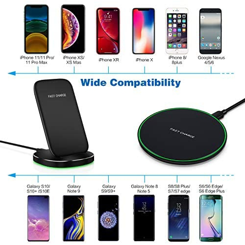 S8 Wireless Charger 2 Pack Canjoy Qi Certified Fast Wireless ...