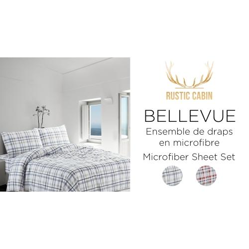 RC - Bellevue Plaid Microfibre Sheet Set Beige Full