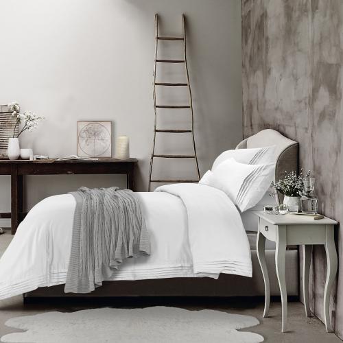 LT Signature - Hotel Ensemble De Housse De Couette Avec Replis T320,White,Grand