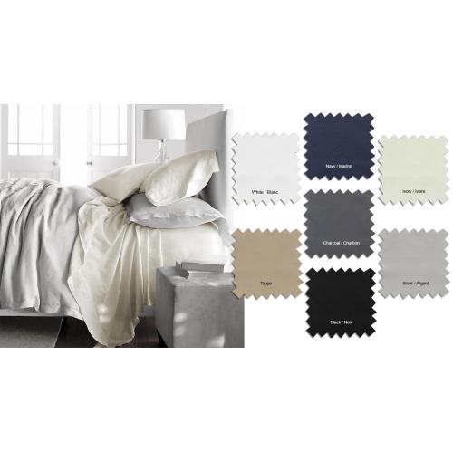 AL - T200 Cotton Sheet Sets Silver Queen