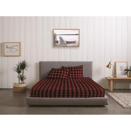 Rc Baldwin Flannel Sheet Set Red Twin Best Buy Canada