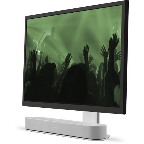 FLEXSON Adjustable TV Stand for Sonos Beam WHT