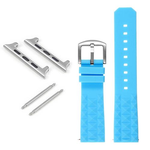StrapsCo Bracelet en caoutchouc Super Waffle pour Apple Watch - 38mm - Bleu