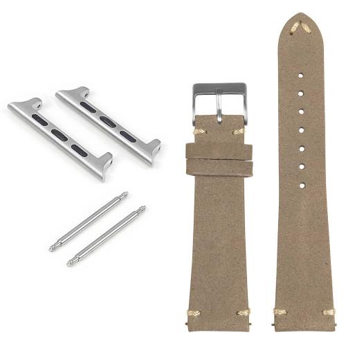 StrapsCo Bracelet en daim pour Apple Watch - 40mm - Gris