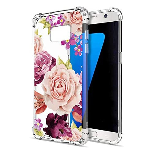 Floral Clear Galaxy S7 Case For Women Girls Greatruly Pretty Phone Case For Samsung Galaxy S7 2016 Flower Design Best Buy Canada