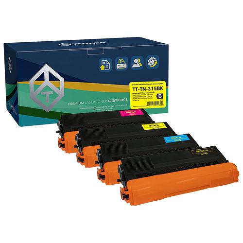 TToner Brother Compatible Black/Colour Toner - 4 Pack