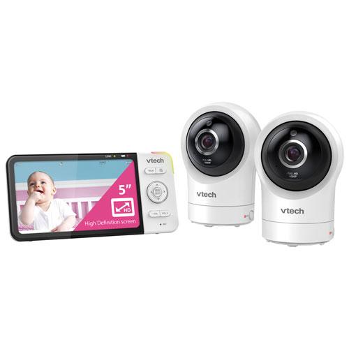 Interphone surv. Wi-Fi 5 po/2 caméras, vision nocturne, communication 2 voies de VTech