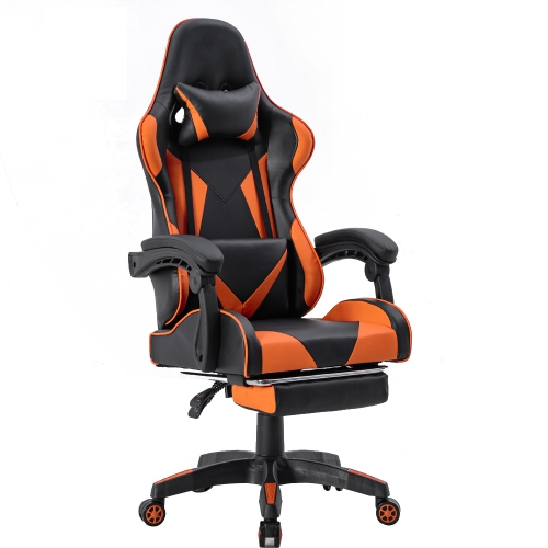 ViscoLogic Strada X Chaise de jeu réglable de bureau à la maison de sports de course de dossier élevé avec le repose-pieds