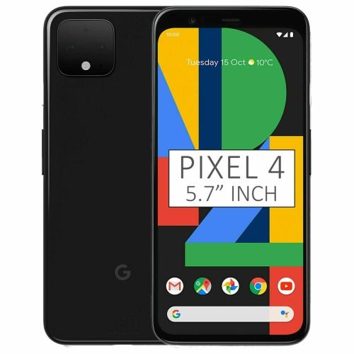 Téléphone intelligent Pixel 4 de 64 Go de Google - juste noir - Déverrouillé - Remis à neuf