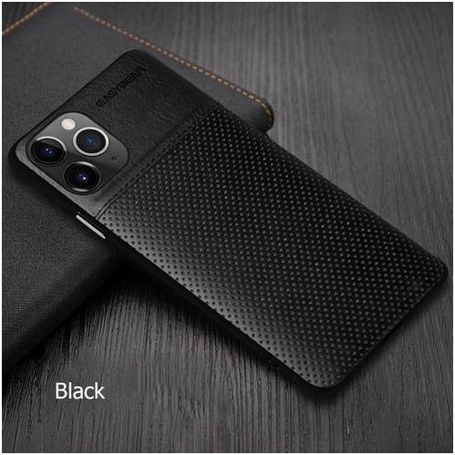 TPU de luxe Coque Étui de protection en cuir PU pour iPhone 11 (Noir)