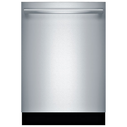 """Bosch 800 Series 24"""" 42dB Built-In Dishwasher with Stainless Steel Tub - Stainless Steel"""