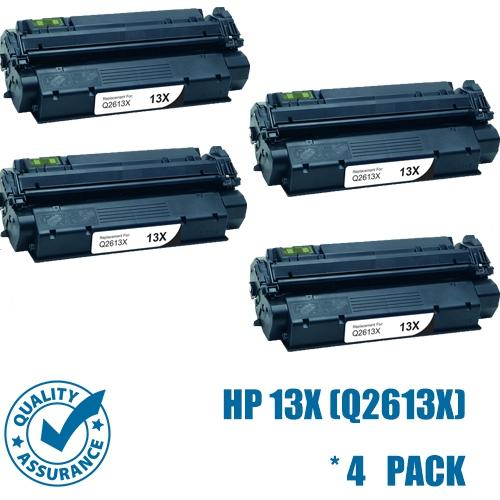 Printer Pro™ 4 Pack HP 13X Black Toner Cartridge for HP Printer LaserJet 1300, 1300n, 1300xi