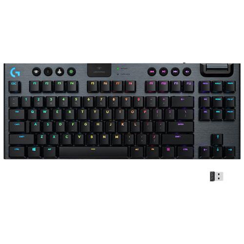 Logitech G915 TKL LIGHTSPEED Wireless Backlit Mechanical Tactile Gaming Keyboard - Carbon - English