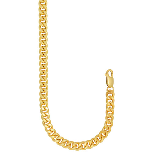 """Le Reve Collection 24"""" 14K Gold Filled Gourmet Link Chain"""