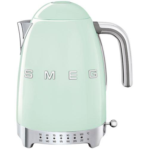 Smeg 50's Style Programmable Electric Kettle - 1.7L - Pastel Green