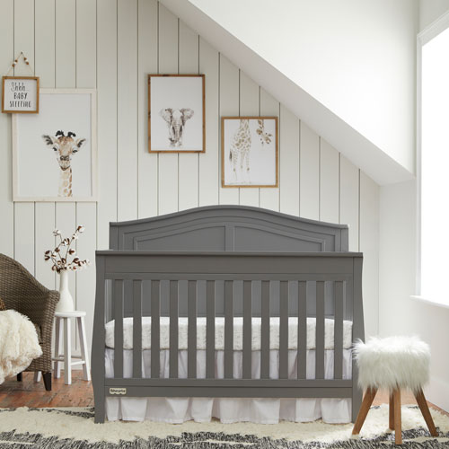 Fisher-Price Kenora 4-in-1 Convertible Crib - Stormy Grey - Only at Best Buy