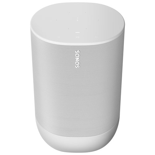 Sonos Move Haut-parleur intelligent sans fil avec Alexa d'Amazon et assistant Google - Blanc