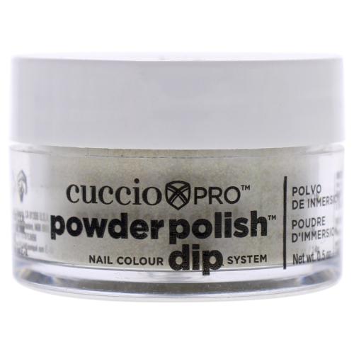 Pro Powder Polish Nail Colour Dip System - Rich Gold Glitter by Cuccio for Women - 0.5 oz Nail Powder