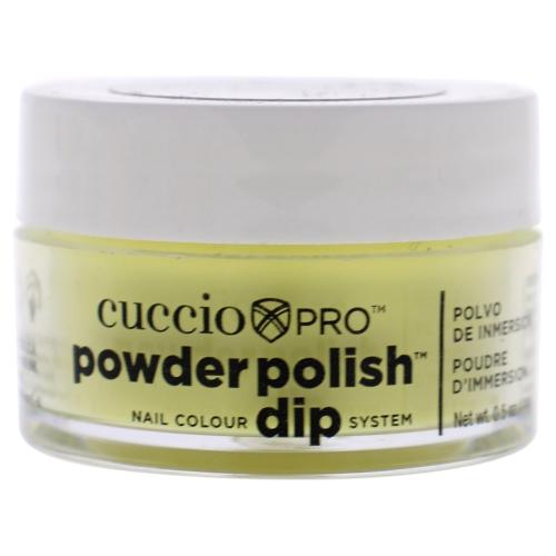 Pro Powder Polish Nail Colour Dip System - Bright Neon Yellow by Cuccio for Women - 0.5 oz Nail Powder